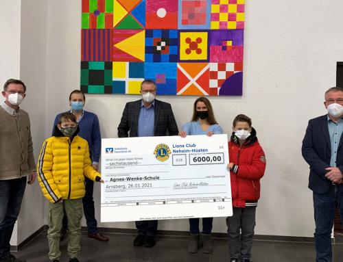 Unterstützung der Agnes-Wenke-Sekundarschule durch den Lions-Club Neheim-Hüsten